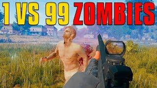 1 VS 99 Zombies | PUBG