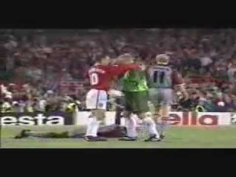 The Final 3 Mins- Man United v Bayern Munich 1999- Rare Pitch Side Footage- Champions League Final