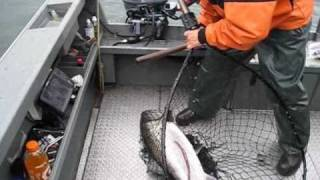 Salmon Fishing in the ocean off of the mouth of the Columbia River
