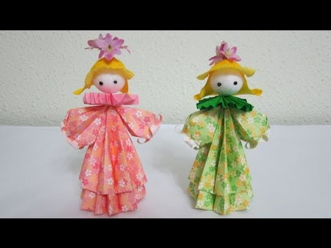 Tutorial How To Make 3d Paper Doll Petite Flower Girls