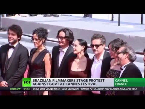 'Coup took place in Brazil': Film crew stages red carpet pro-Rousseff protest in Cannes