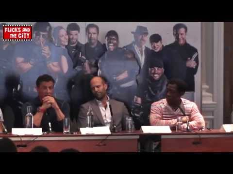 The Expendables 3 Interviews - Sylvester Stallone. Jason Statham. Wesley Snipes. Antonio Banderas