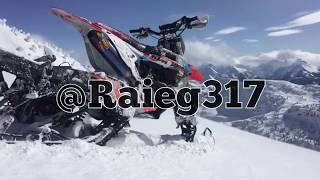 back country snowbike with Reagan Sieg