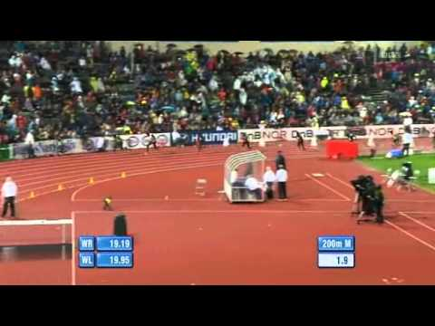 Usain Bolt 200m 19.86 Diamond League Oslo - 2011