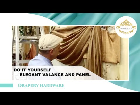 Do It Yourself Drapes   Window Treatment Ideas With Swags. Scrolls and Holdbacks   DIY Drapery