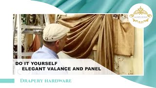 Video #13: Do It Yourself Drapes | Window Treatment Ideas With Swags, Scrolls and Holdbacks