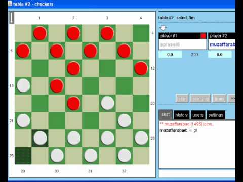 PlayOk Checkers beating spissel6