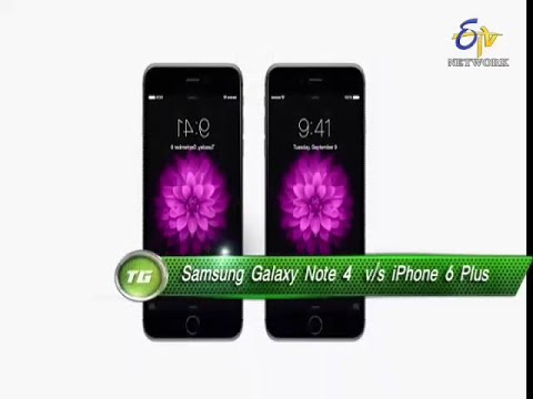 Tech Guru-samsung Note 4 Vs Iphone 6 Plus-review-on 18th Jan 2015 video