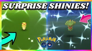 SHINY CATERPIE CAUGHT + SHINY MISDREAVUS in Pokemon Go! ( SURPRISED SHINY REACTIONS )