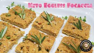 HOW TO MAKE EASY KETO FOCACCIA  - EGGLESS, GRAIN FREE, WHEAT FREE, GLUTEN FREE & SUGAR FREE !