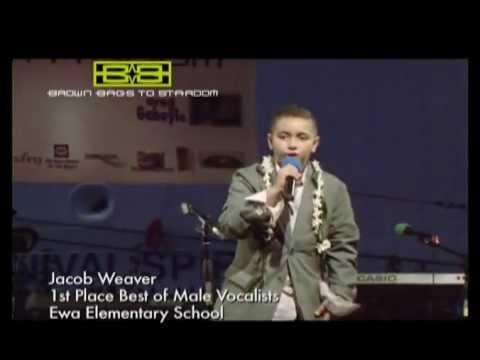 Jacob Weaver 1st Place Best of Male Vocalists - Ewa Elementary School