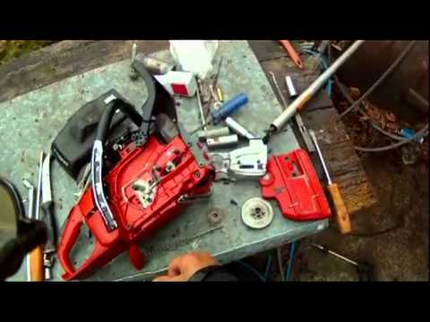 HOW TO REMOVE CLUTCH ON hUSQVARNA   / JONSERED SAWS