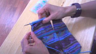 Toe-Up Socks on Circular Knitting Needles - Completing the Heel (Part 5 of 5 *OLD VERSION*)