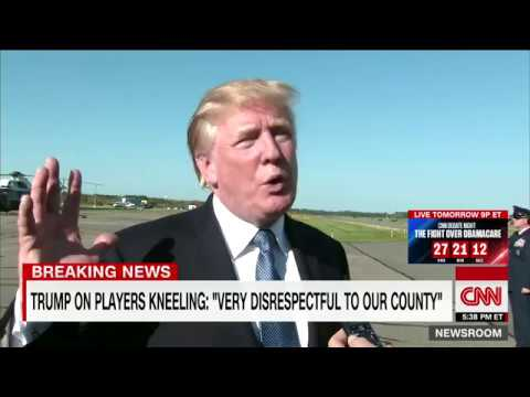 Trump responds after a day of NFL protests