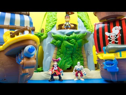 Fisher-Price Disney's Jake and The Never Land Pirates Jake's Magical Tiki Hideout Playset