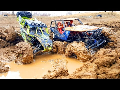 RC MUD Trucks 4x4 Trail — Axial Wraith VS WLtoys 10428 — RC Extreme Pictures
