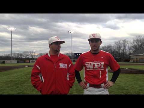 WPI Baseball Post-Game Interview - Steven D'Agostino and Vinny D'Ambrosio