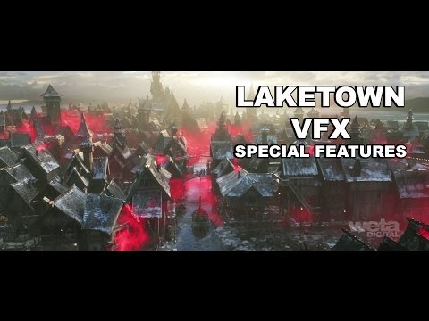 The Hobbit : The Desolation of Smaug -  Laketown VFX Special Features [HD] [1080]