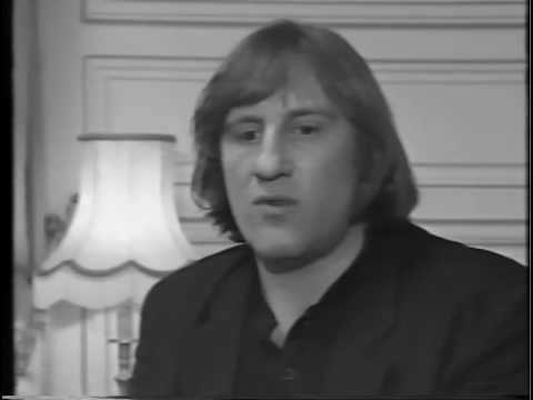 Depardieu interviewed on his speech work with Dr. Tomatis.
