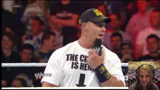WWE RAW 4/8/13 Part 1 John Cena Champ is HERE Live COMMENTARY