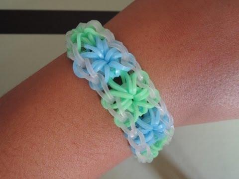 Comment faire un bracelet en forme de fleur youtube - Comment faire des bracelets en elastique ...