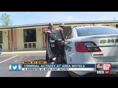 Suspects arrested after drug activity discovered at New Port Richey motel