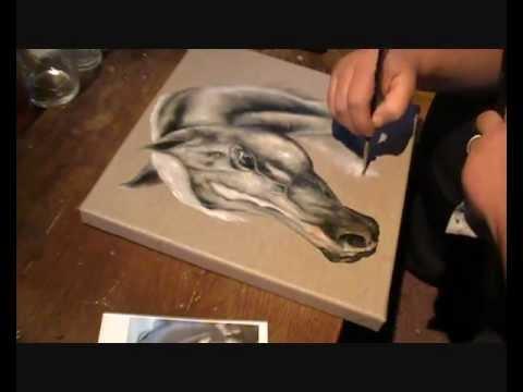 R Alisation D 39 Un Tableau Equestre Tete Cheval