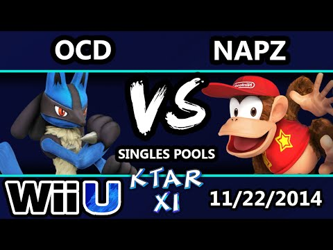 Ktar XI - OCD ( Lucario) Vs. Napz (Sheik, Diddy) SSB4 Singles Bracket Pools - Smash For the wii U
