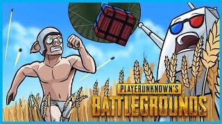 PUBG Strat Roulette Funny Moments! - Crate Weapons Only! (Battlegrounds Crate Challenge w/ SMii7Y)