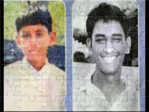 indian cricketer captain mr mahendra singh dhoni childhood videos and old videos images