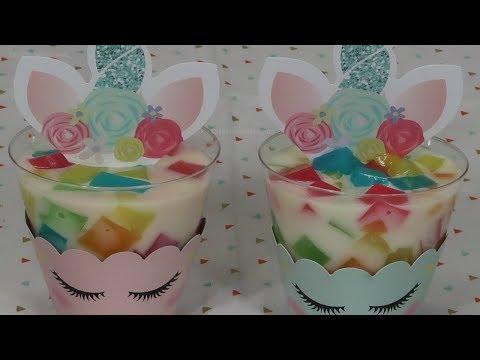 Gelatinas de Unicornio Individuales para Fiestas Infantiles - Recetas en Casayfamiliatv