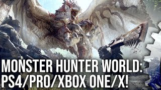 Monster Hunter World: PS4/PS4 Pro vs Xbox One/Xbox One X Comparison + Performance Test