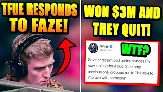 World Cup WINNERS QUIT Playing Together After This.. Tfue RESPONDS To FaZe Lawsuit!
