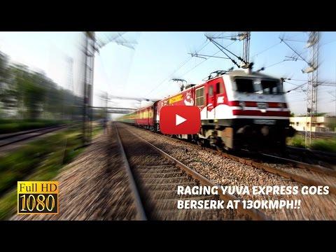 Baroda's Amul WAP-5 Bandra-Nizamuddin Yuva Express Goes Berserk at 130kph!