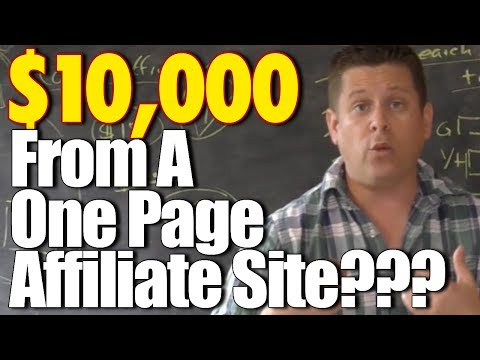 $10.000 A Month From A Simple One Page Affiliate Site??? - What It Really Takes To Profit Online!
