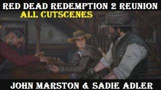 RDR2 Reunion: John Marston & Sadie Adler (All Cutscenes) Epilogue Story