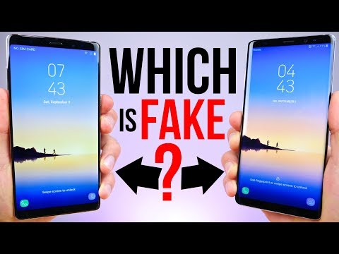 $90 Fake Samsung Galaxy Note 8 vs $929 Note 8!