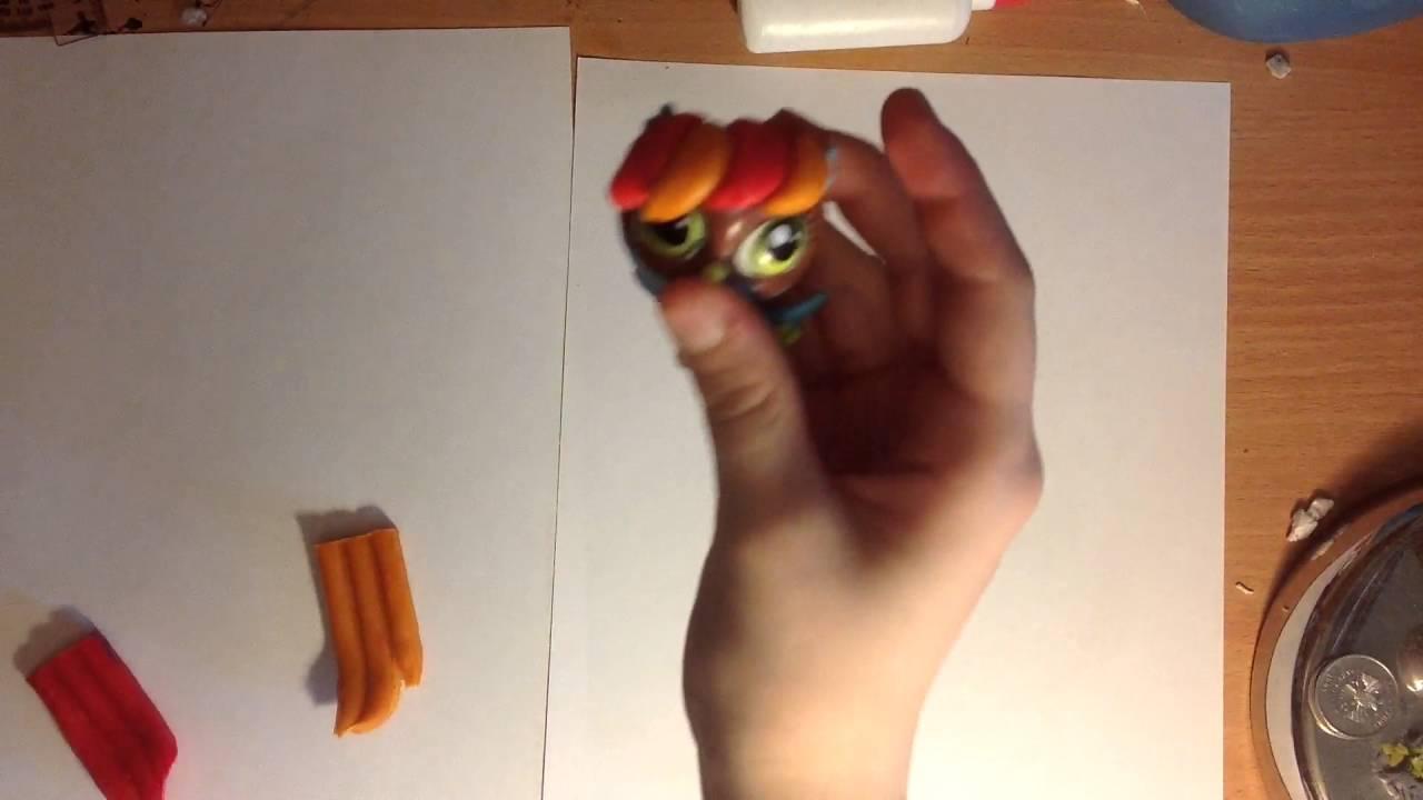 Как сделать из пластилина прическу для пета