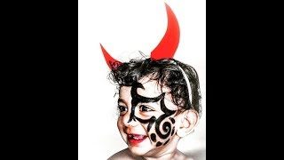Baby Photoshoot Ideas DIY At Home- Horror Cute Funny Simple Faceart Halloween Friday The 13th/ Vid13
