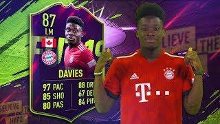 FIFA 19 Future Star Davies Review (87) Future Star Alphonso Davies Player Review