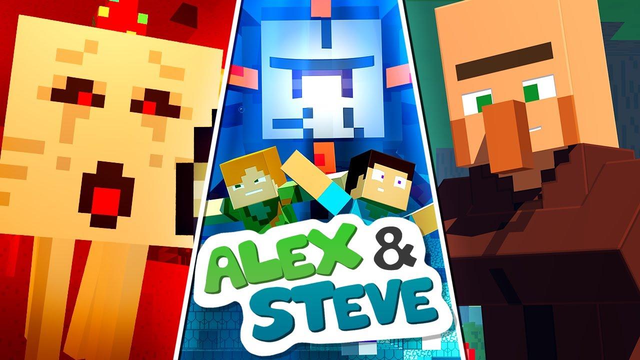 The Minecraft Life of Alex & Steve   MOVIE 1   Minecraft Animation