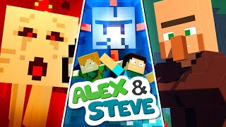 The Minecraft Life of Alex & Steve | MOVIE 1 | Minecraft Animation