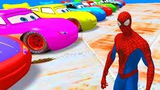 Người nhện lái ô tô hoạt hình Lightning Mcqueen lên máy bay - Nhạc thiếu nhi vui nhộn