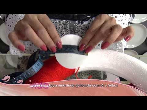 Faça uma linda guirlanda com lã e feltro!