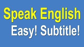 Speaking English For Beginners - Speak English Learning Easy
