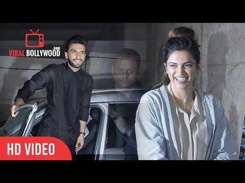 Ranveer Singh And Deepika Padukone At Special Screening Of Madaari   Madaari Movie Review