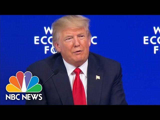 President Donald Trump Draws Boos At Davos After Criticizing The Press | NBC News