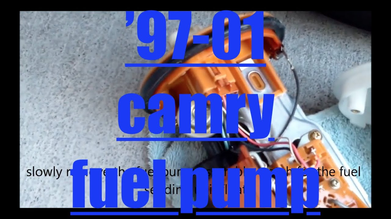 replace fuel pump housing  toyota camry youtube