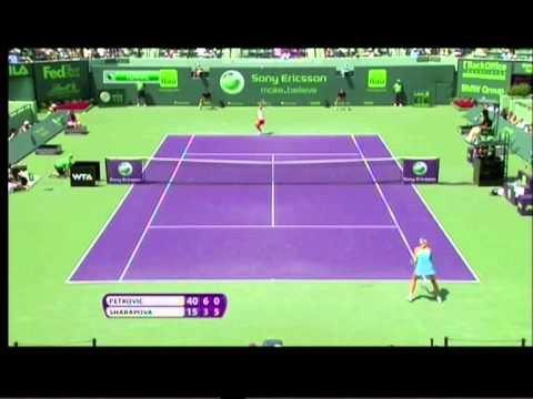 Maria Sharapova vs Andrea Petkovic Sony Ericsson Open 2011