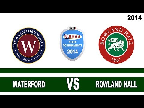 2A Waterford vs Rowland Hall Utah State Girls Soccer Tournament Finals - 10/27/2014